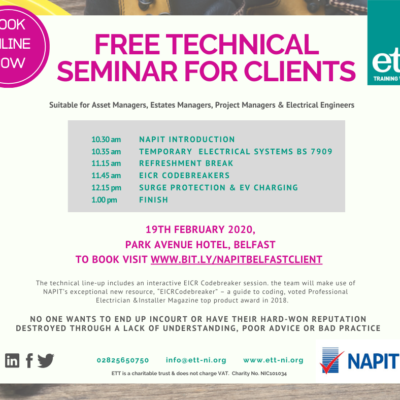 FREE TECHNICAL EVENT IN BELFAST FOR CLIENTS